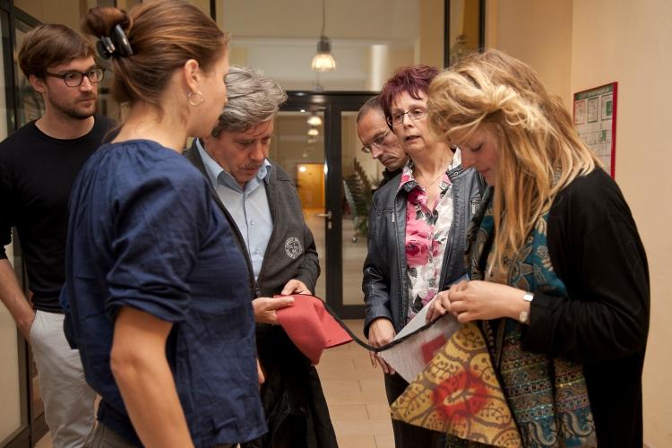 COBRA Teilnehmerinnen und Trevira Mitarbeiter. (Foto: Sebastian Marggraf)